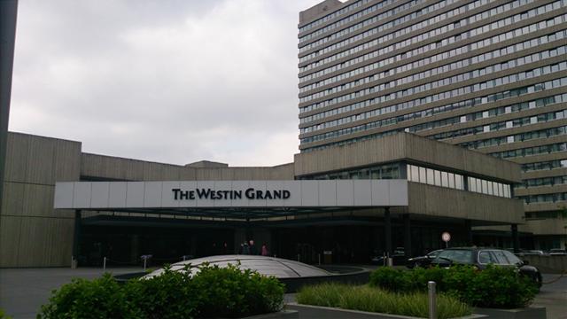 代理店会議と宿泊先のホテル